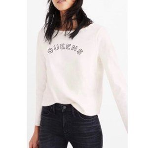 Madewell QUEENS Graphic Long Sleeve Shirt
